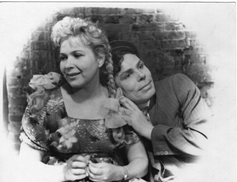 Г.Лыткина и М.Красильников в спектакле Свадьба с приданым Н.Дьяконова 1951г